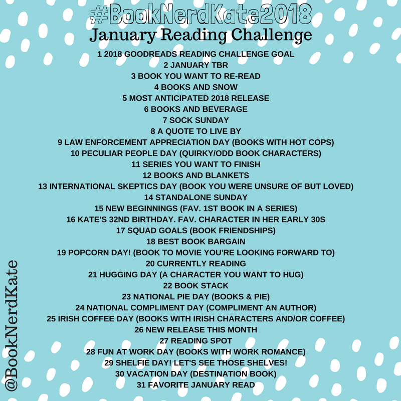 1 2018 GOODREADS READING CHALLENGE GOAL2 JANUARY TBR3 BOOK YOU WANT TO RE-READ4 BOOKS AND SNOW5 MOST ANTICIPATED 2018 RELEASE6 BOOKS AND BEVERAGE7 SOCK SUNDAY8 A QUOTE TO LIVE BY9 LAW ENFORCEMENT APPRECIATION DAY (BO (2).png